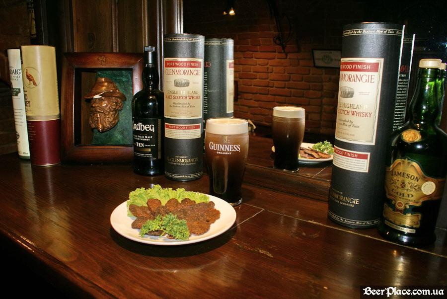 Днепропетровск. Ирландский паб Шамрок. Сушёное мясо и Guinness