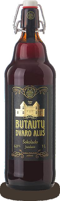 Литовское пиво Butautų dvaro šokolado juodasis alus
