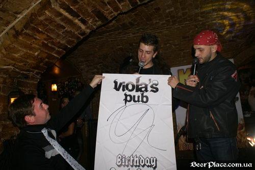 Паб Виола (Violas Bierstube). День Рождения 2010. Фото. Вручение значков